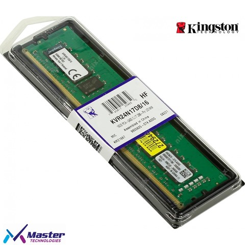 MEMORIA KINGSTON 16G DDR4 /2400MHZ P/PC KVR24N17D8/16