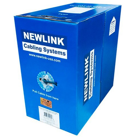 CABLE DE RED UTP CAT5e CMR 24AWG AZUL 1000FT CAJA NEWLINK 9805442