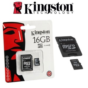 MEMORIA P/CAMARA 16GB KINGSTON MICRO SD SDC4/16GB