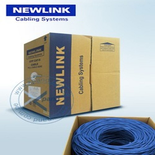 CABLE DE RED UTP CAT6 CM 1000FT AZUL CAJA NEW-9806742